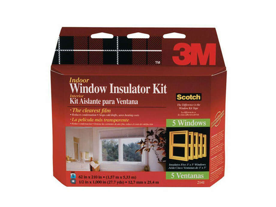 Apply Plastic Over WindowsCovering windows and patio doors with clear plastic stops cold air from coming inside, and it can make a surprising difference if you have drafty windows. Insulator kits come with double-sided tape; you stick it to your window frame, and then stick the plastic covering to the other side of the tape and cut to fit the window.You can use a blow-dryer to eliminate wrinkles in the film, making it nearly invisible. The tape won't harm the finish when you remove it.   If you have windows that never open, such as ones in a two-story foyer, leave them covered year-round to save money in the summer too. The insulation kits cost about $5 to cover two windows. 3M, which manufacturers the kits, says the film can save up to $17 per window during the winter for homes in the North.Source: Popular Mechanics Photo: Popular Mechanics