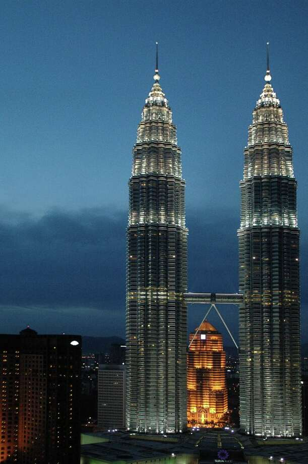 452 meter-tall twin Petronas Towers - the tallest buildings in the world up until 2004 -compose the HQ for this petroleum giant in Malaysia