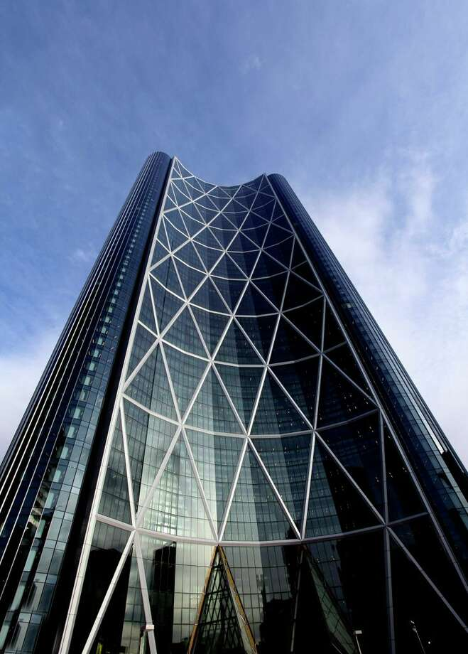 "Canadian energy company EnCana's ""The Bow"" designed by Foster + Partners (who are also designing Apple's new HQ in Silicon Valley)"