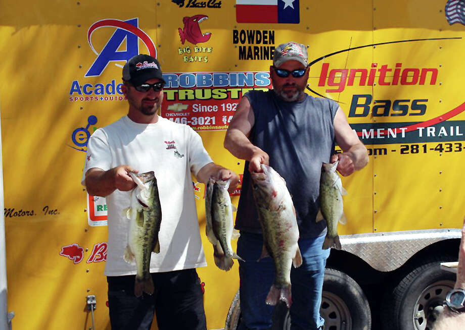 Lipham and Stimits win with 14.50 lbs. and take big bass honors also  Photo by Paul Hayes, Lakecaster