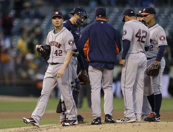 April 15: A's 11, Astros 2 Astros starter Erik Bedard lasted only