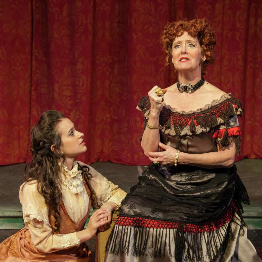 "Sara Curtis and Leigh Strimbeck in Theatre Institute at Sage's  production of ""The Mystery of Edwin Drood,"" onstage from April 12-21, 2013. (Courtesy Theatre Institute at Sage)"