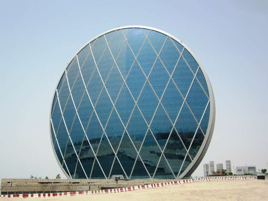 The 110 meters tall Aldar headquarters building is the first circular building of its kind in the Middle East.