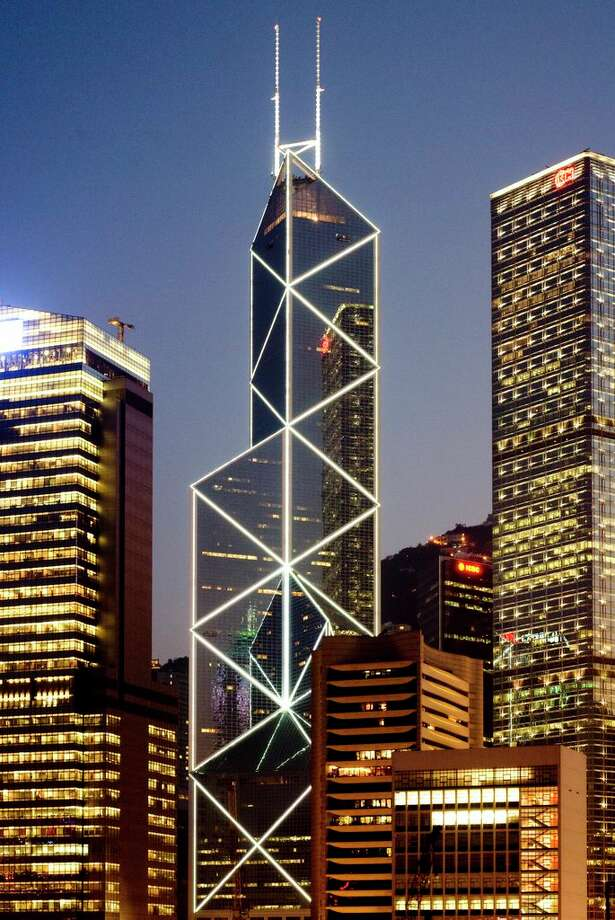 The 367 meter-tall Bank of China Tower is among the world's tallest corporate palaces.