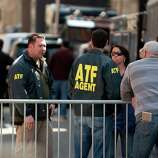 Alcohol, Tobacco and Firearms (ATF) officers confer near the finish line of the Boston Marathon on April 16, 2013, where two explosions struck the Boston Marathon on April 15. The explosives used in the Boston Marathon bombings were likely homemade devices full of nails and metal fragments designed to cause widespread injury, according to initial reports. A day after an attack that left three dead and more than 170 wounded, the FBI and Boston police declined to reveal details of their probe, or whether they suspected the assault was linked to foreign or domestic extremists.