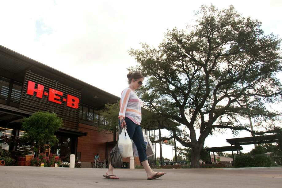 Elizabeth Pearson (CQ) walks out of the new H-E-B in Montrose on Tuesday, May 29, 2012 in Houston, Texas. Photo: J. Patric Schneider, For The Chronicle / Houston Chronicle