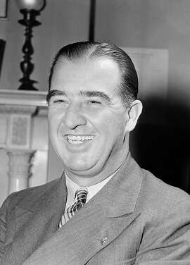 U.S. Senator Albert B. (Happy) Chandler (D-Ky.) taken in his office in the Senate Office Building  in Washington on Oct. 17, 1942.  (AP Photo/Byron Rollins)