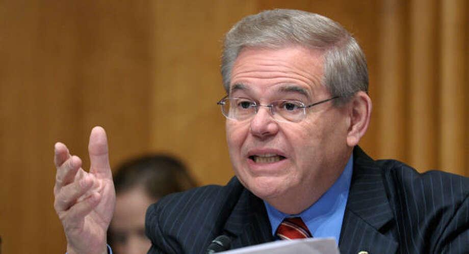 Bob Menendez, one of eight senators seeking comprehensive immigration reform. (AP Photo) Photo: Susan Walsh