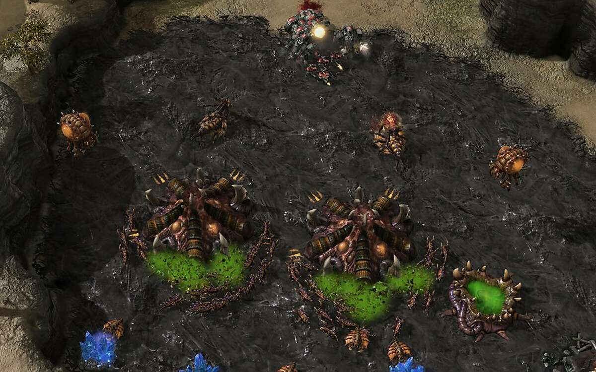 An image of the Starcraft II: Heart of the Swarm.