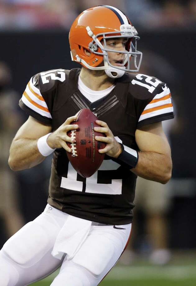 One of our readers wishes luck to former UT great Colt McCoy, who was recently traded from the Cleveland Browns to the San Francisco 49ers, a Super Bowl contender. Photo: Associated Press