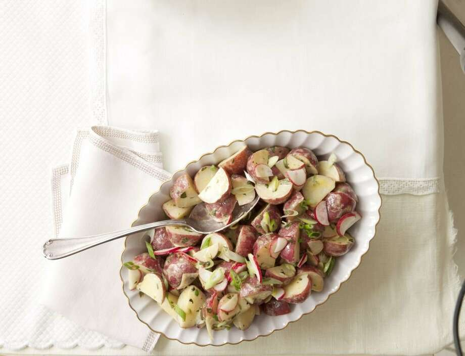 Good Housekeeping recipe for Warm Red-Potato Salad. Photo: Kate Sears