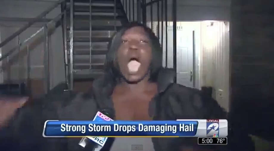 Michelle Clark's description on KPRC of a hailstorm has gone viral with more than 8 million views.