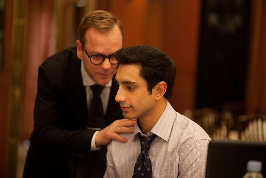 """Kiefer Sutherland and Riz Ahmed star in """"The Reluctant Fundamentalist,"""" opening Friday. Photo: Paramount"""