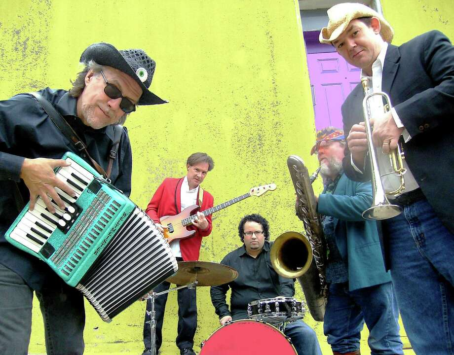 Brave Combo will perform at Incognito: Fiesta's Masked Ball and at the Fiesta Arts Fair. Band members are Carl Finch (from left), Little Jack Melody, Arjuna Contreras, Jeffrey Barnes and Danny O'Brien. Photo: Courtesy Jane Finch