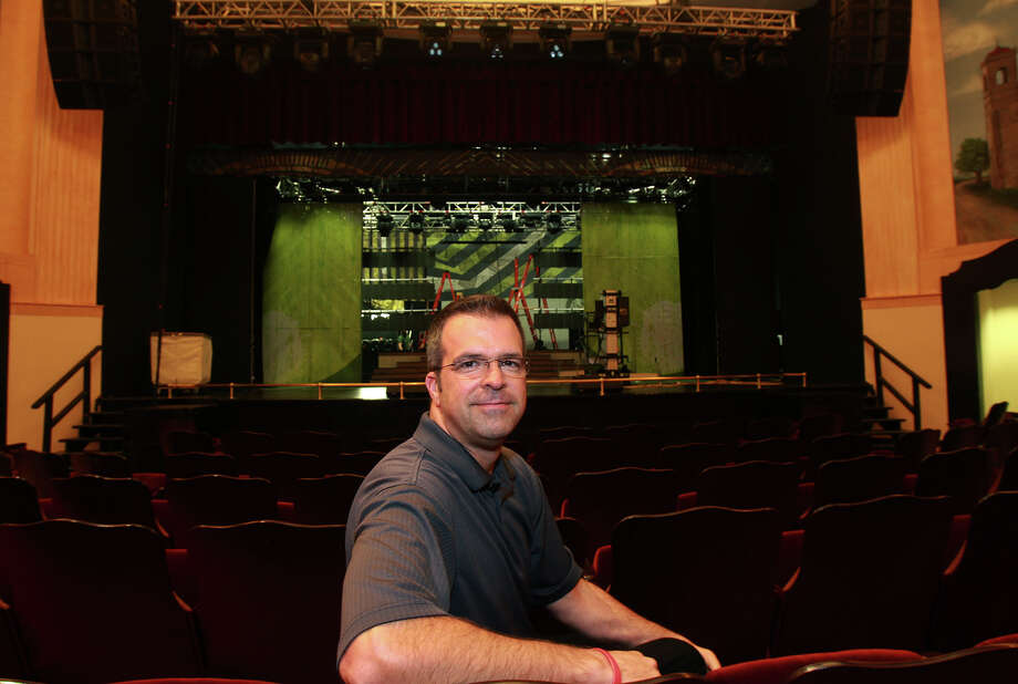 Tim Higdon is the Producer/Director with Army Entertainment at Ft. Sam Houston in San Antonio. Higdon is seated in the recently restored Ft. Sam Hoston Theater. The U.S. Army has moved its entire entertainment division to Fort Sam Houston. Photo: JOHN DAVENPORT, SAN ANTONIO EXPRESS-NEWS / ©San Antonio Express-News/Photo may be sold to the public