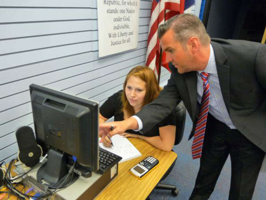 """Brandon Van Vleck, at work as Judson Learning Academy principal, has been named the Region 20 """"Principal Of The Year."""" Photo: Photo Courtesy Of Judson ISD"""