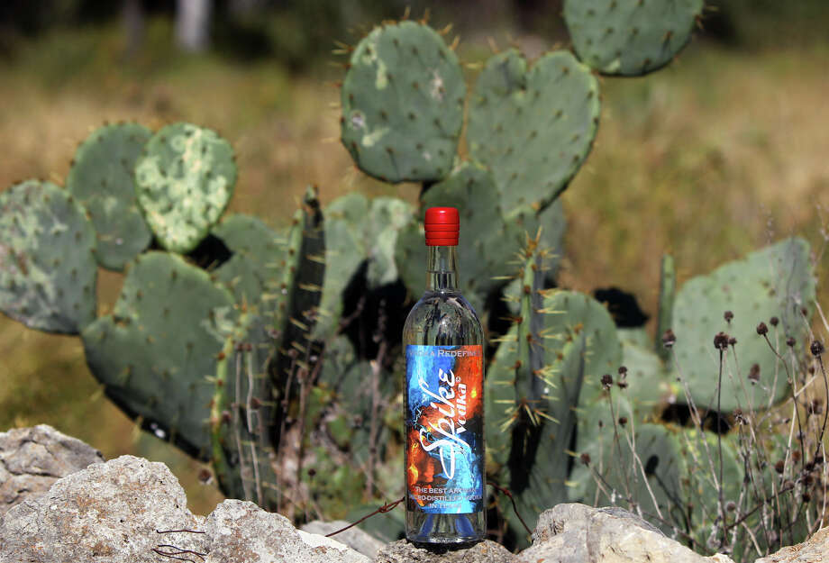 Spike Vodka founder Nick Spink and master distiller Rachel Price use prickly pear cactus to make Spike Vodka. Price describes it as earthy, raw and organic. Photo: JOHN DAVENPORT, STAFF / ©San Antonio Express-News/Photo Can Be Sold to the Public
