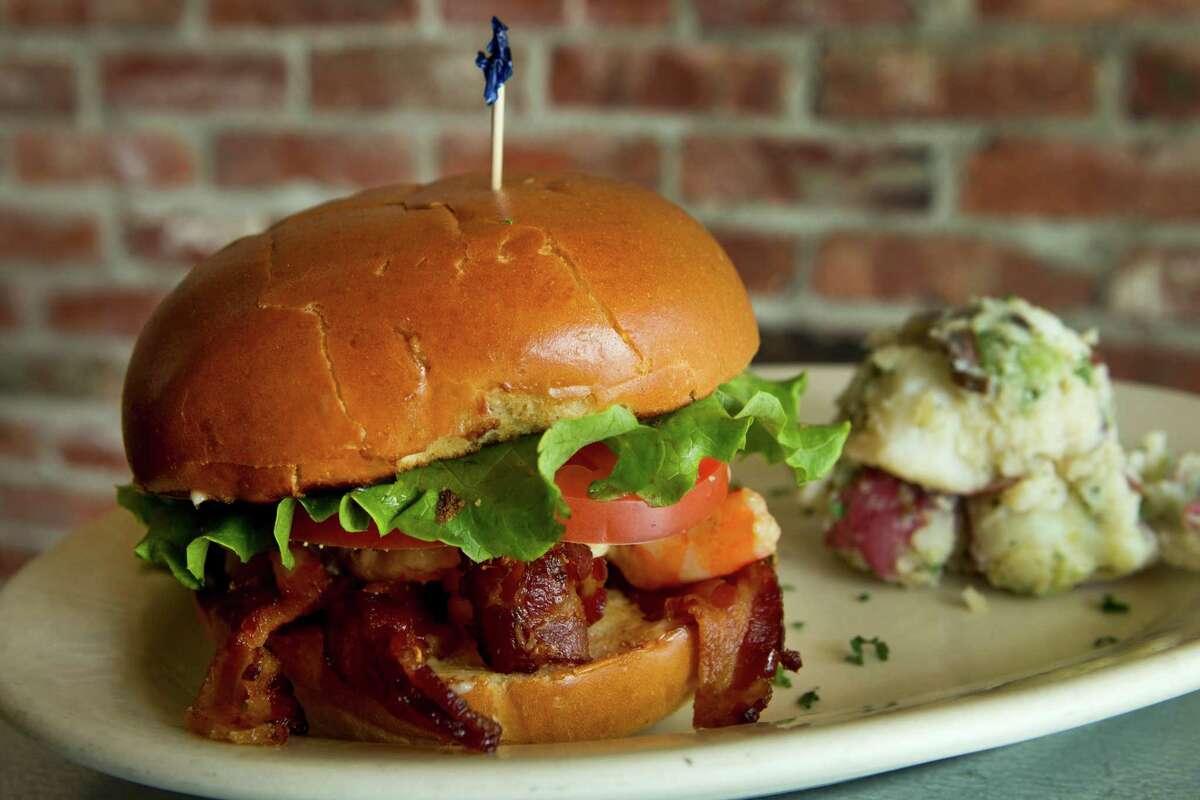Paulie's serves a flavorful shrimp BLT.