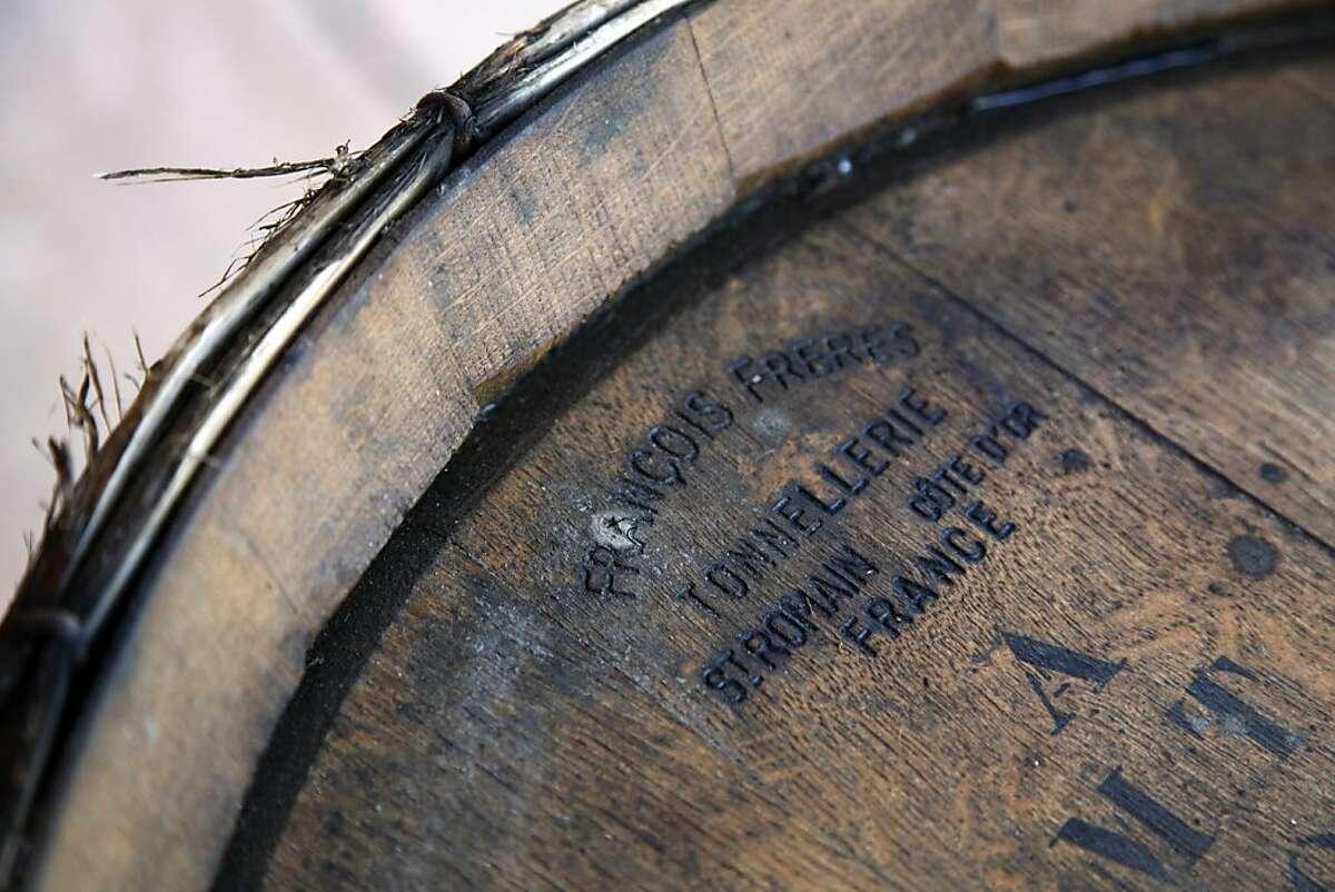 A barrel at Big Basin Vineyards in Boulder Creek, Calif., on Friday, April 12, 2013.