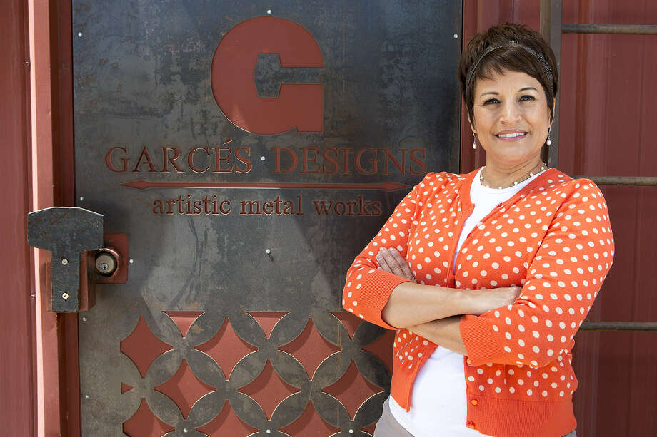 Melinda Garcés took her father's custom metalworking business, Garcés Metal Specialties at 2915 S. Zarzamora St., to a whole other level by investing in a water jet and adding new metalworking techniques to her father's traditional methods. Photo: Photos By Michael Miller / For The San Antonio Express-News