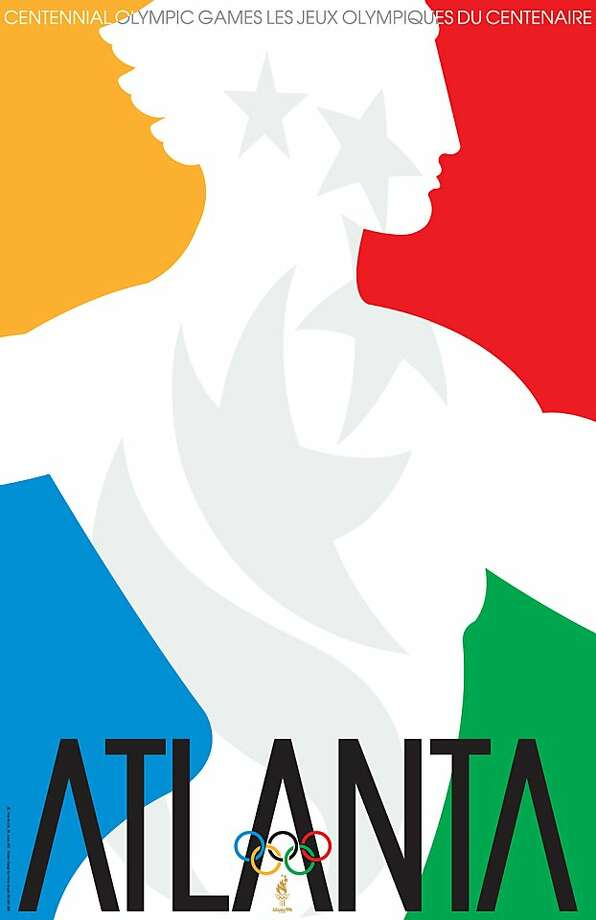 The 1996 Olympic Games in Atlanta poster designed by Primo Angeli. Photo: Courtesy Primo Angeli