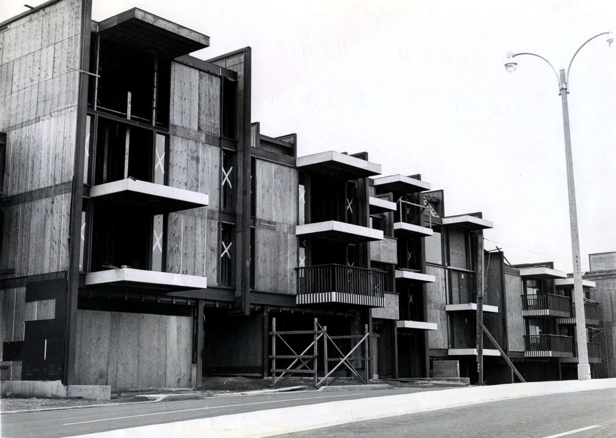 Unfinished homes along Diamond Heights Blvd. in 1965.