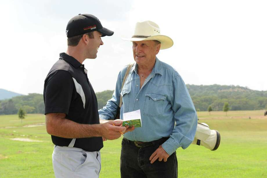 "The film version of David Cook's book ""Golf's Sacred Journey: Seven Days in Utopia"" starred Lucas Black, left, and Robert Duvall. Photo: Utopia Films"