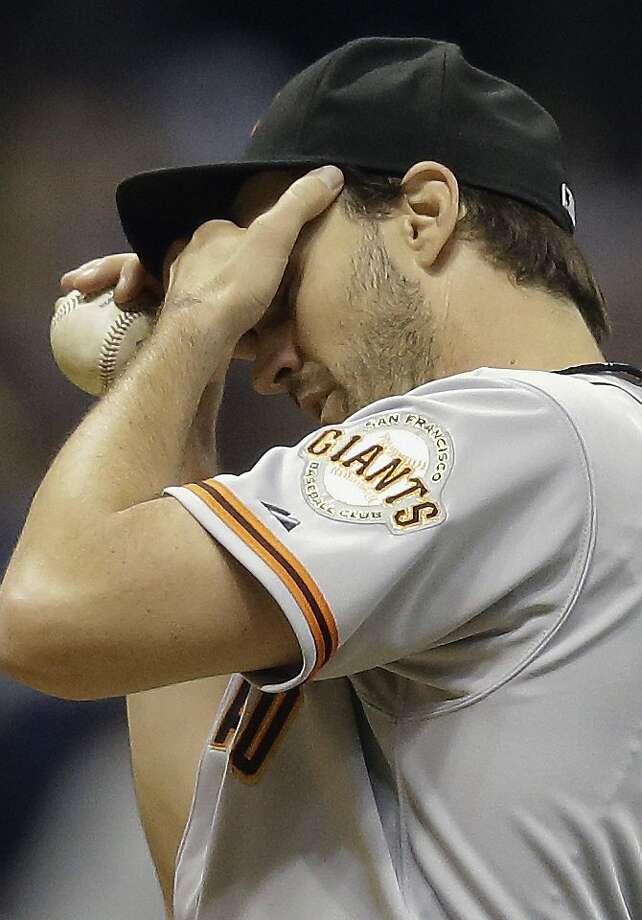 Barry Zito gave up eight runs to the Brewers in the third. Photo: Morry Gash, Associated Press