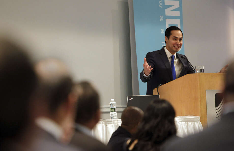 In his speech to the National Development Council's annual academy at the Washington Plaza Hotel, Mayor Julián Castro talked about improving a city by investing in education and helping people realize the American dream through hard work. Photo: Photos By Susan Biddle / Washington Post