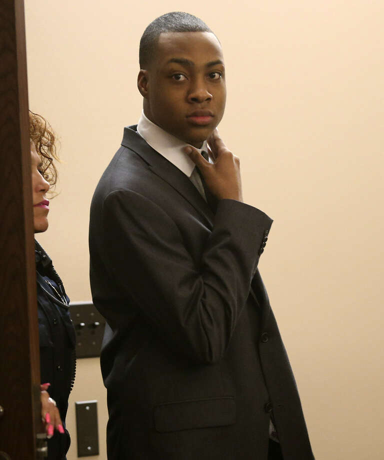 Anthony Johnson, 23, was convicted of murder in the slaying of Romu- ald Rodrique Ngande. Photo: Jerry Lara / Express-News