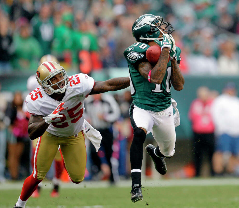 DeSean Jackson, 2th round, drafted by Philadelphia in 2008Averaged over 1,000 yards over last four seasons, 17.5 career average per catch. Photo: Julio Cortez, Associated Press / AP