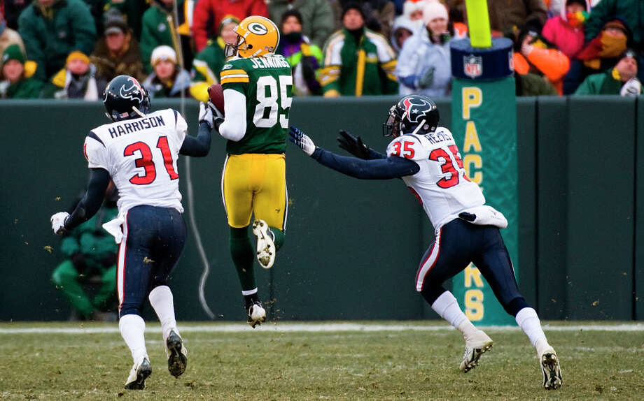 Greg Jennings, 2th round, drafted by Green Bay in 2006 Forty-five receptions as a rookie, three 1,000-yard seasons. Photo: Smiley N. Pool, Houston Chronicle / Houston Chronicle