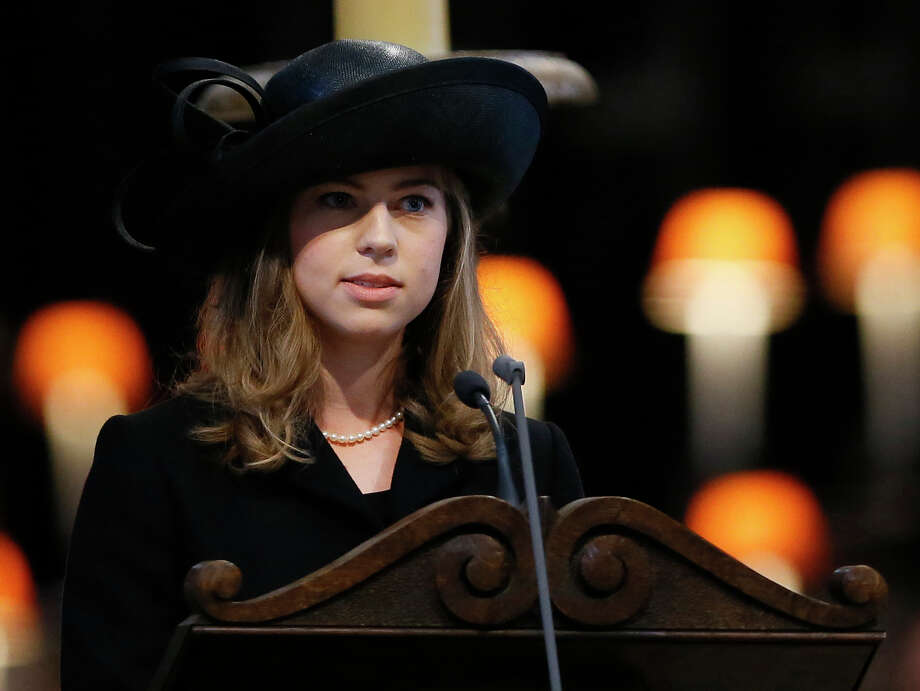 Amanda Thatcher, granddaughter of British former prime minister Margaret Thatcher, delivers a reading during Margaret Thatcher's ceremonial funeral in St Paul's Cathedral in central London on April 17, 2013. The funeral of Margaret Thatcher took place on April 17, with Queen Elizabeth II leading mourners from around the world in bidding farewell to one of Britain's most influential and divisive prime ministers.  AFP PHOTO / POOL / KIRSTY WIGGLESWORTHKIRSTY WIGGLESWORTH/AFP/Getty Images Photo: KIRSTY WIGGLESWORTH, AFP/Getty Images / AFP
