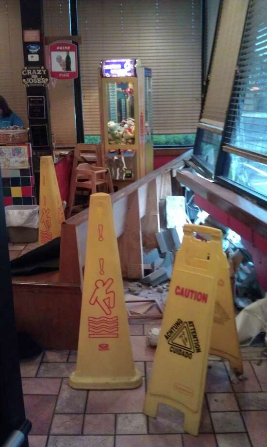A car ran into the Lumberton Crazy Jose's on April 15. Photo: Handout