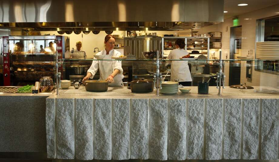 The open kitchen at Seaglass.
