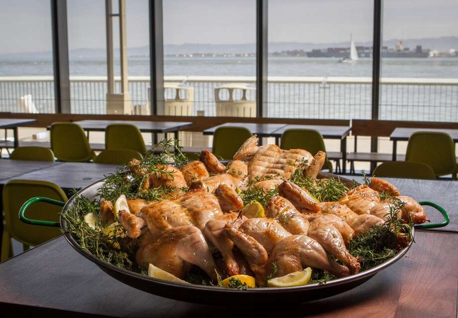 The roast chicken on display.