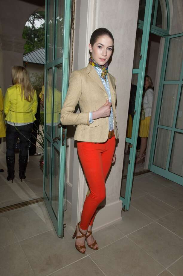Paige Parks modeling Ralph Lauren Spring 2013 collections.