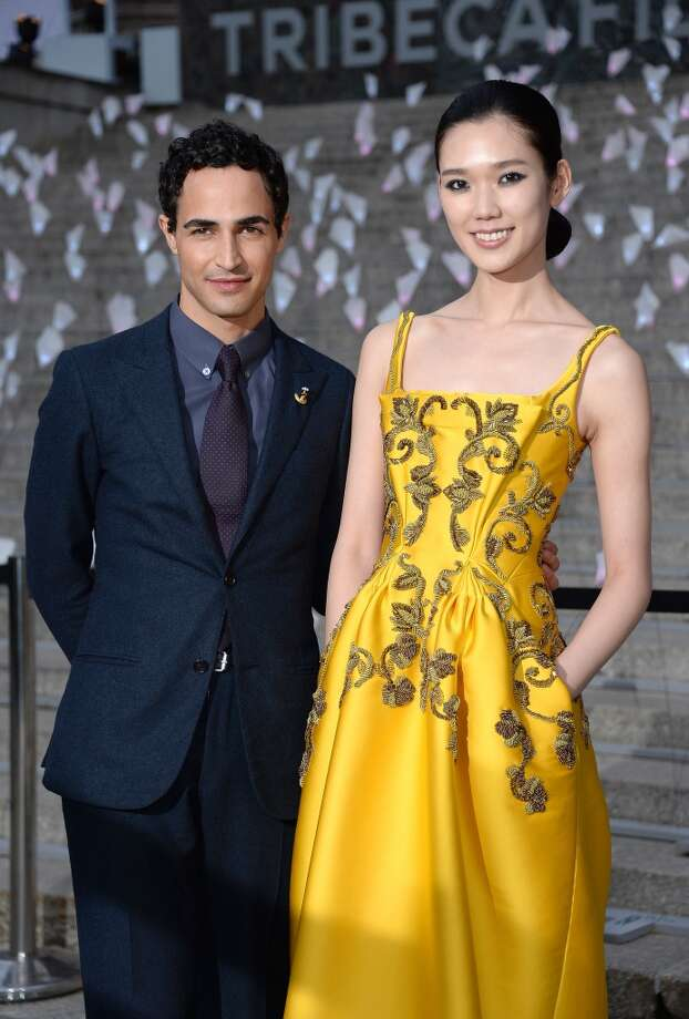 NEW YORK, NY - APRIL 16:  Designer Zac Posen and Tao Okamoto attend Vanity Fair Party for the 2013 Tribeca Film Festival on April 16, 2013 in New York City.  (Photo by Dimitrios Kambouris/Getty Images)