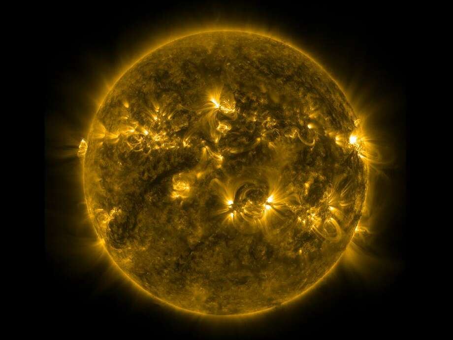 This image taken by the Solar Dynamics Observatory's Atmospheric Imaging Assembly (AIA) instrument at 171 Angstrom shows the current conditions of the quiet corona and upper transition region of the Sun. Photo: NASA