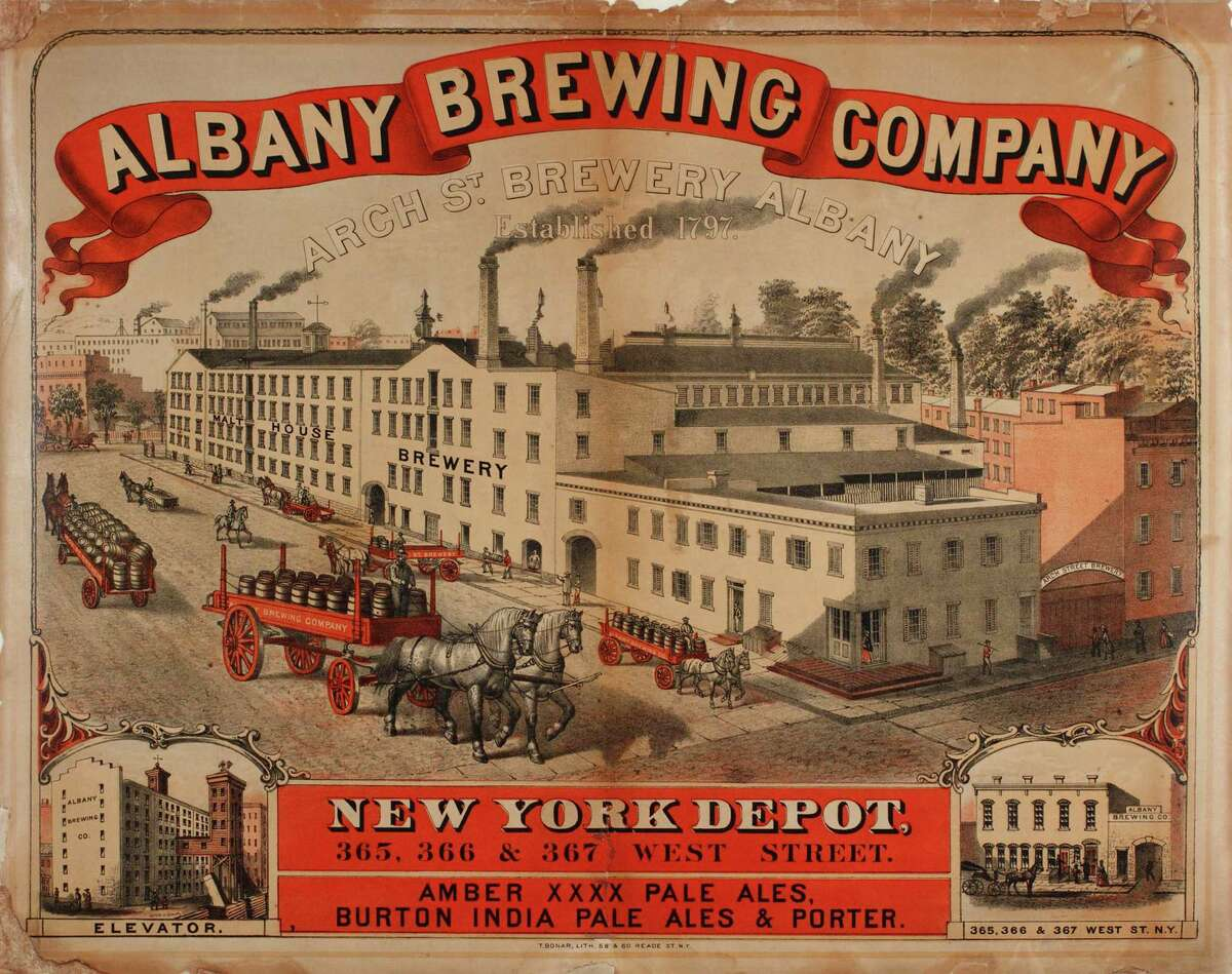 """Albany Brewing Company Lithographer, T. Bonar ht.21 1/2"""" x w.27 1/2"""" Albany Institute of History & Art, 1954.59.12"""