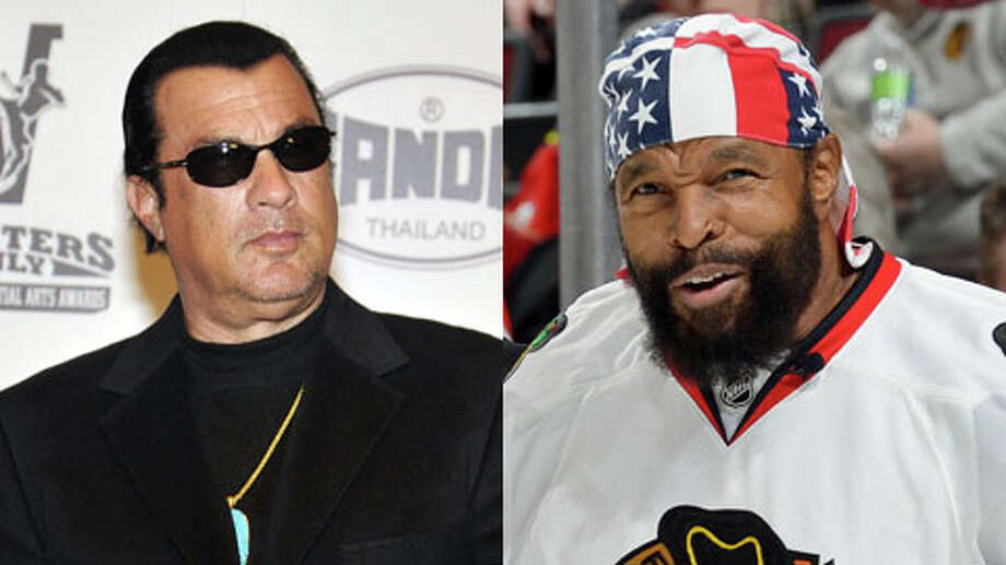 Steven Seagal is older, but only by about a month. He turned 61 on April 10, and Mr. T turned 61 on May 21. Photo: Getty