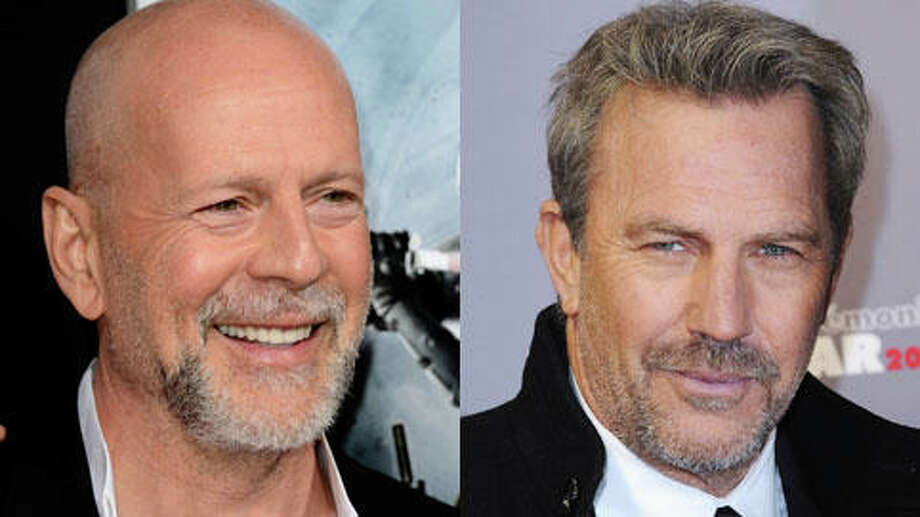 Who's older, Bruce Willis or Kevin Costner? Photo: Getty