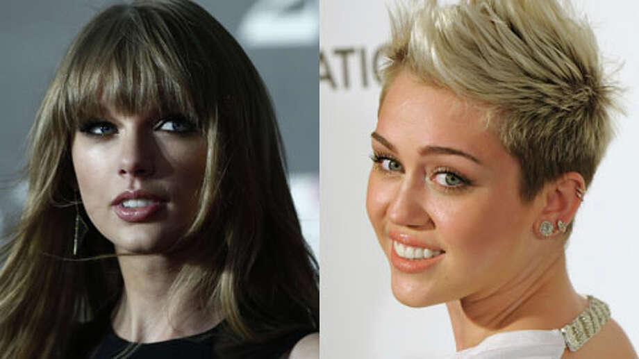 Who's older, Taylor Swift or Miley Cyrus? (Andrew Cowie/AFP/Getty and Dan Steinberg/Invision/AP)