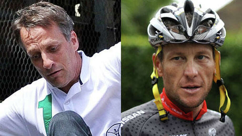 Who is older, Tony Hawk or Lance Armstrong? (Gareth Cattermole/Getty and Nathalie Magniez/Getty)