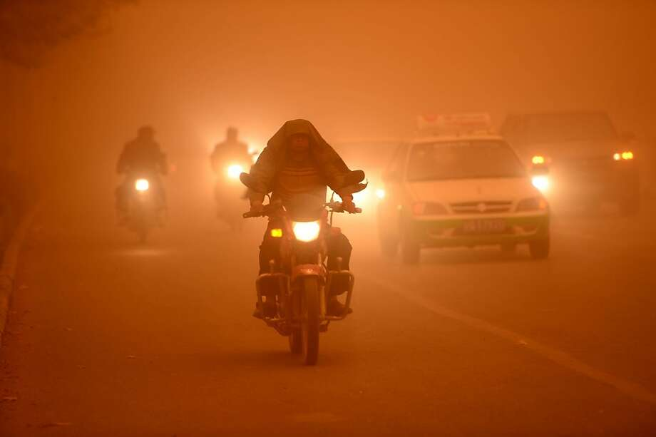 Eat my dust: The air in Yecheng county, China's Xinjiang Uygur Autonomous Region, is much healthier than Beijing's - except during sandstorms, that is. Photo: Str, AFP/Getty Images