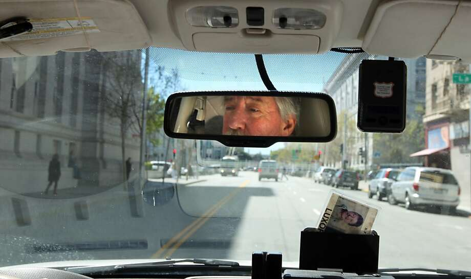 Taxi driver Allie Gochberg has been negotiating the streets of San Francisco for the past 20 years. Photo: Lance Iversen, The Chronicle