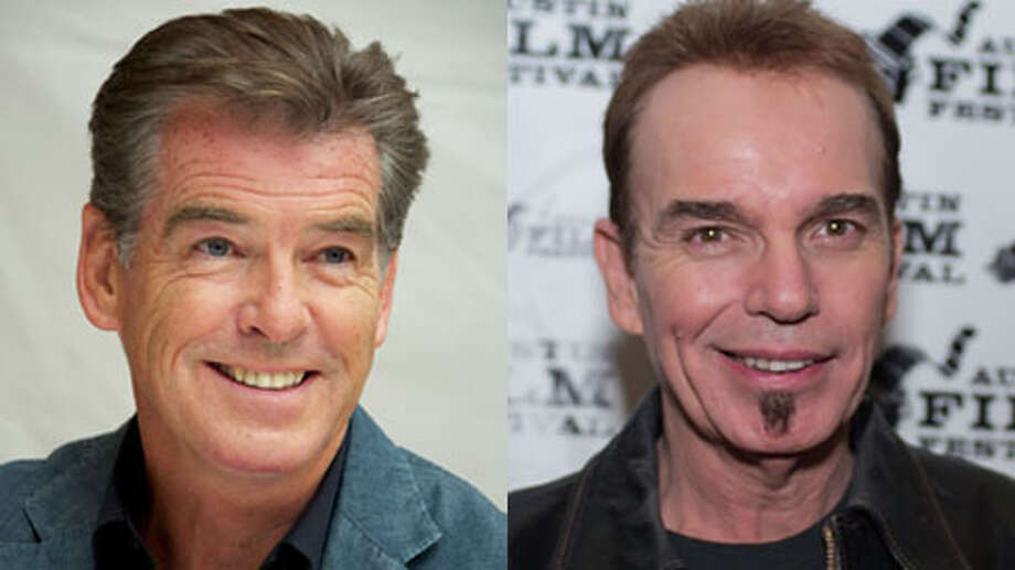 Pierce Brosnan is older. He turned 60 on May 16. Billy Bob is 57.