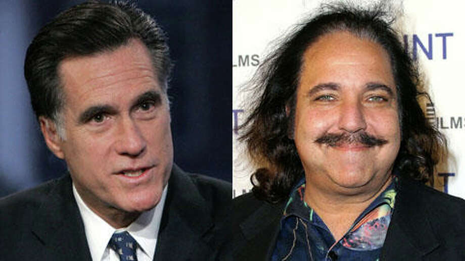 They both had birthdays on Tuesday, March 12. Mitt Romney turned 66. Ron Jeremy turned 60.