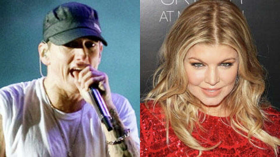 Eminem is 40; Fergie is 38.