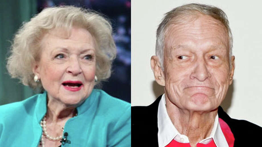 Who's older, Hugh Hefner or Betty White? (Tibrina Hobson/WireImage and NBCUniversal)